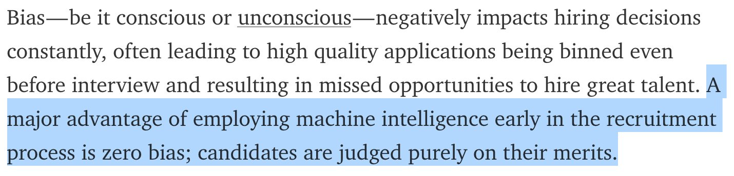 as stated earlier there is nothing about machine learning that guarantees no bias even if the data wasnt biased